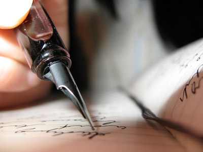 pen writing letter