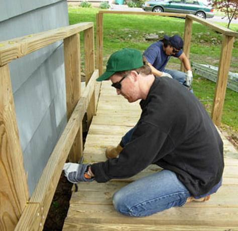 handicap ramp build