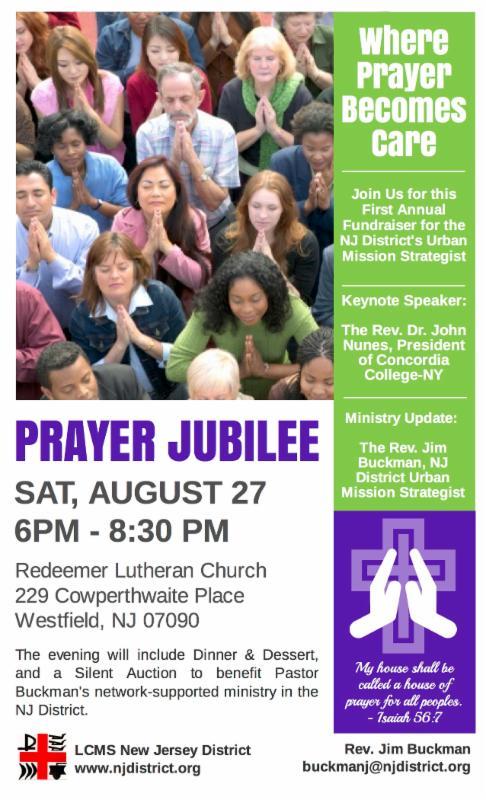 the grapevine prayer jubilee fundraiser reformation hymn festival