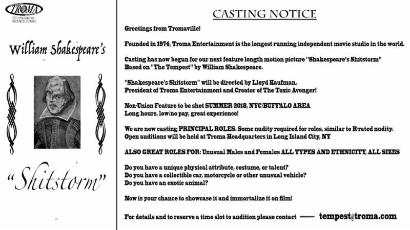 Contact Tempesttroma To Schedule An Audition Or Apply For A Crew Role