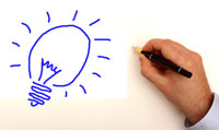 hand drawing lightbulb idea