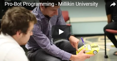 Millikin students program with Pro-Bot