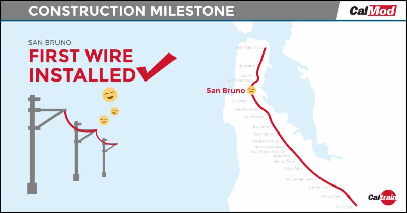 First wire installed in San Bruno.