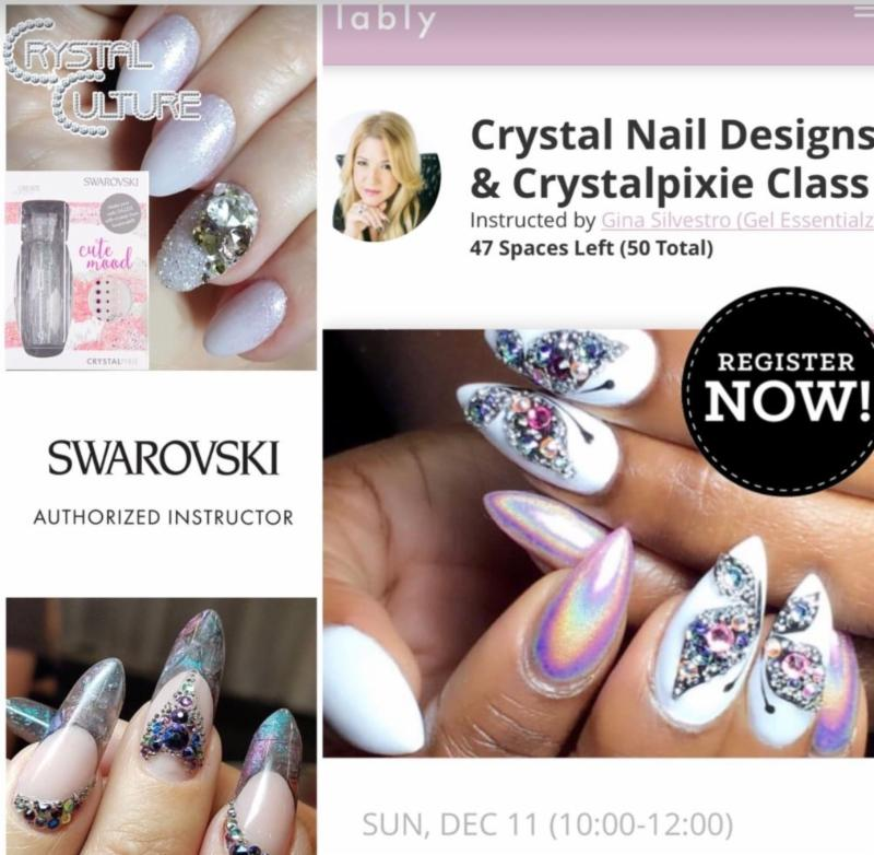 NEW Online Live Class Sunday! Crystal Culture Nail Designs!