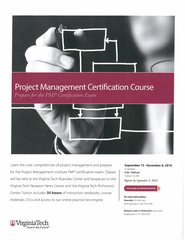 Virginia Tech Project Management Certification Course