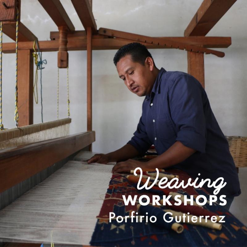 Porfirio Gutierrez, artist, master weaver and advocate named CAM Studio Artist in Residence