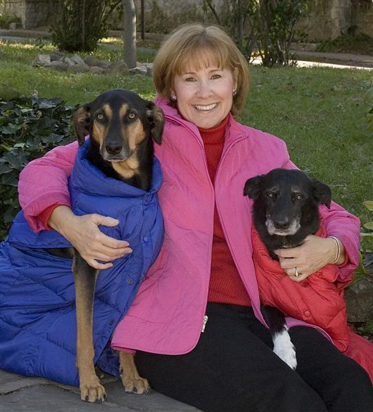 jane with dogs