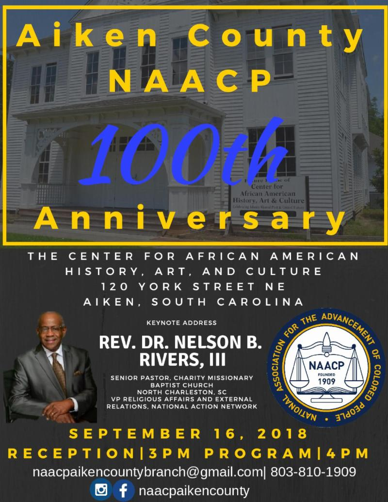 NAACP 100th Anniversary Flyer