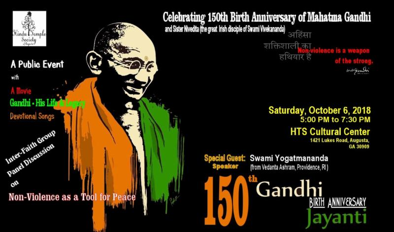 Gandhi Birth Anniversary Flyer