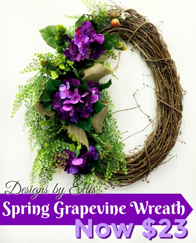 Welcome Family And Friends With Beautiful Spring Door Decor From Ellis Home  And Garden. Our Designs By Ellis Collection Features A Variety Of Grapevine  ...