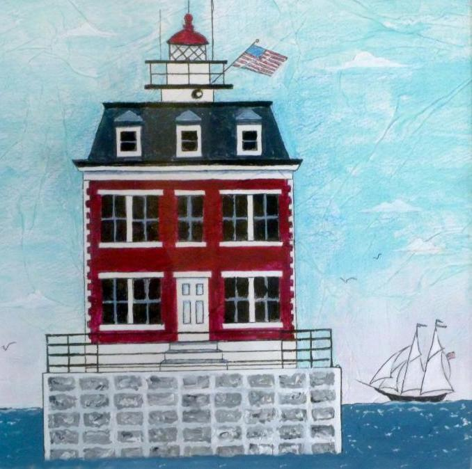 Happy Th New London Harbor Light First Lit On This Night In - Discontinued lighthouse border
