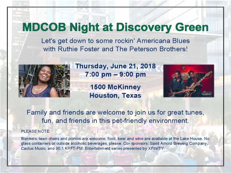 MDCOB Night at Discovery Green