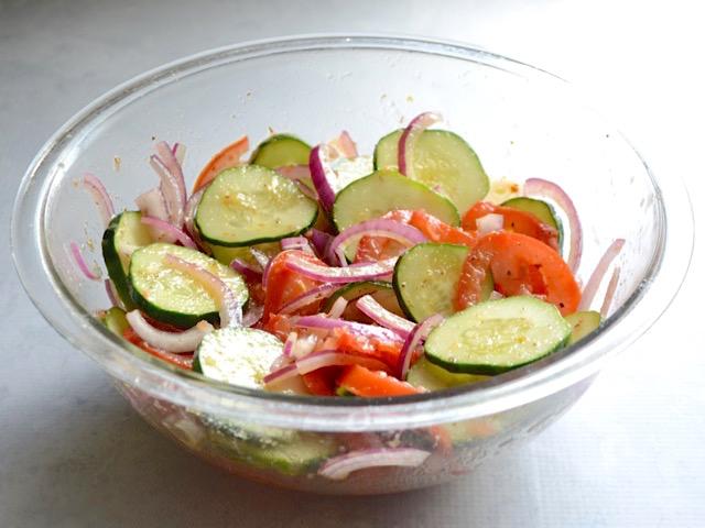 photo of cucumber salad