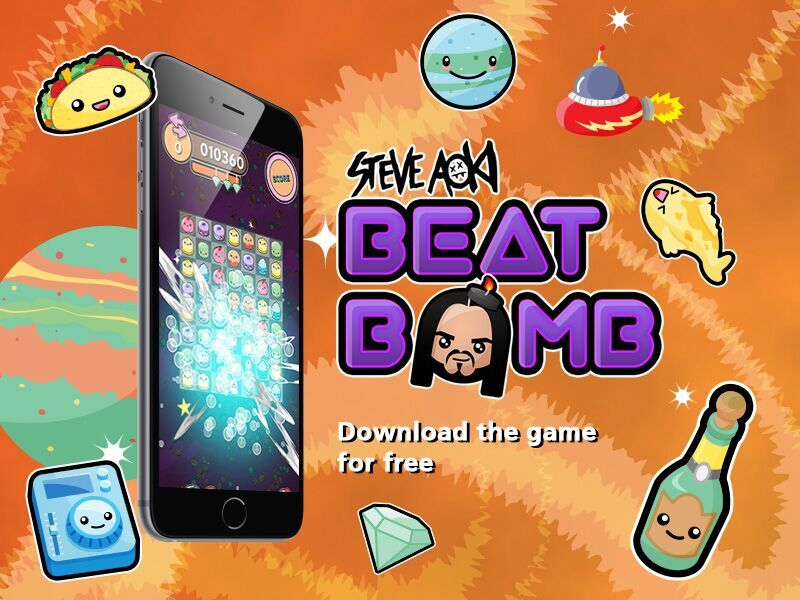 WORLD-RENOWNED DJ STEVE AOKI LAUNCHES 'BEAT BOMB,' HIS FIRST MOBILE