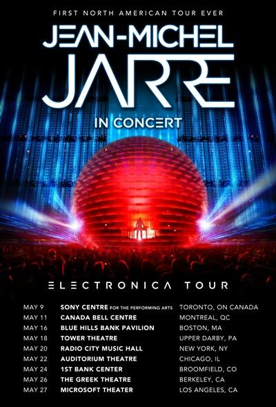 JEAN-MICHEL JARRE TO BRING HIS 'ELECTRONICA' WORLD TOUR TO NORTH