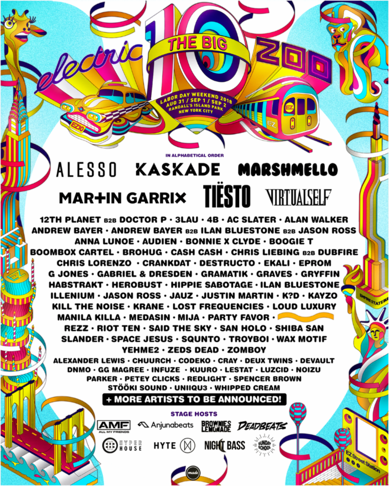 ELECTRIC ZOO: THE BIG 10 Releases Phase 2 Line-Up w ALESSO