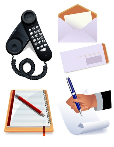 Communications tools icons