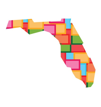 Florida Map of Color Blocks