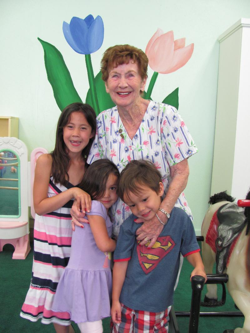 irene with nursery kids