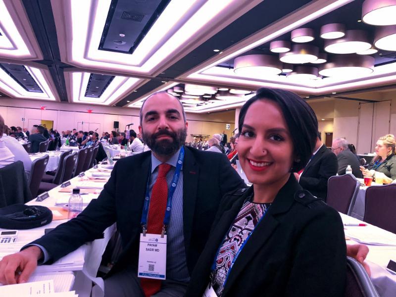 Dr. Sadr and Dr. Chhatwal at APA Annual Meeting NYC 2018