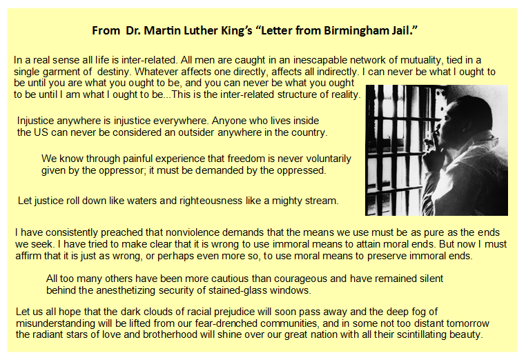 a review of martin luther kings letter from birmingham jail