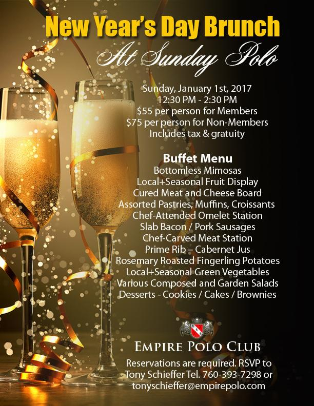New Year's Day Brunch at Sunday Polo