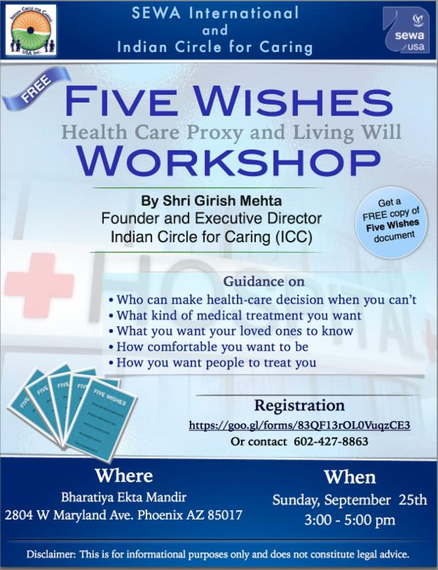 Children Dandiya and Five Wishes Workshope Over This Weekend