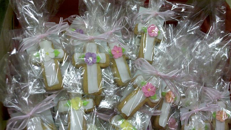 cross cookies wrapped in box