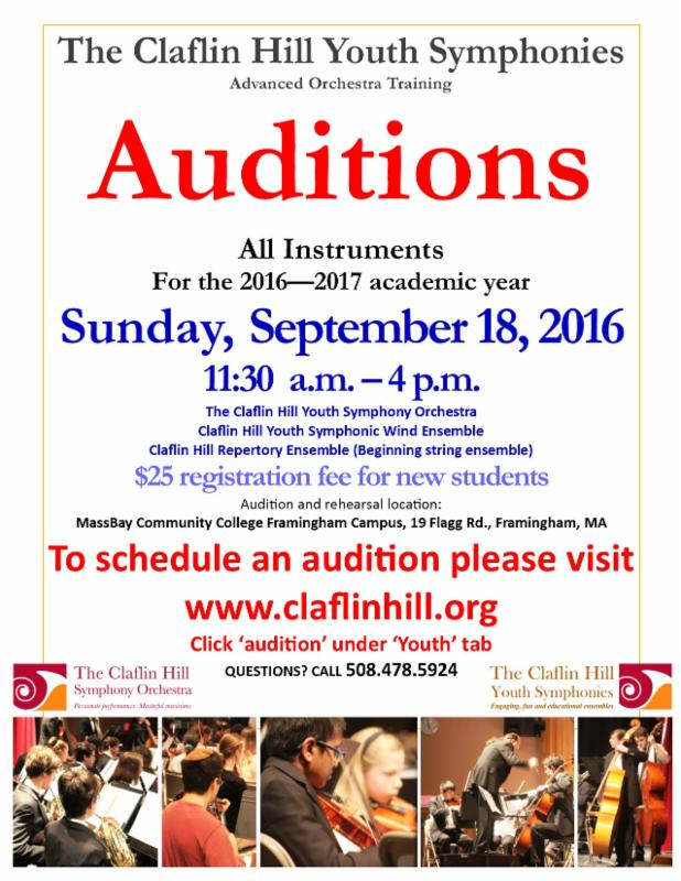 CHYS audition flyer- September 18th