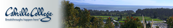 Cabrillo College, Breakthroughs Happen Here - photo of campus from Hort