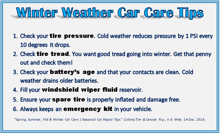 Winter Weather Car Care Tips