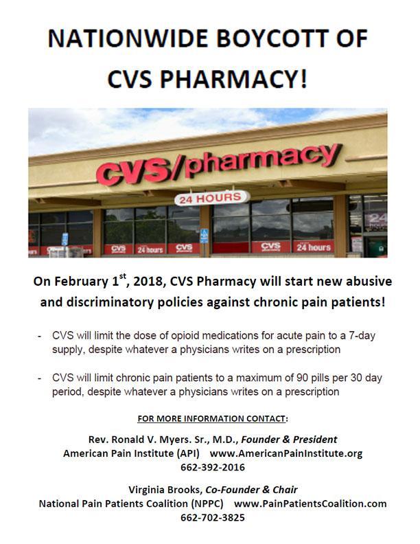 press release nationwide boycott of cvs pharmacy