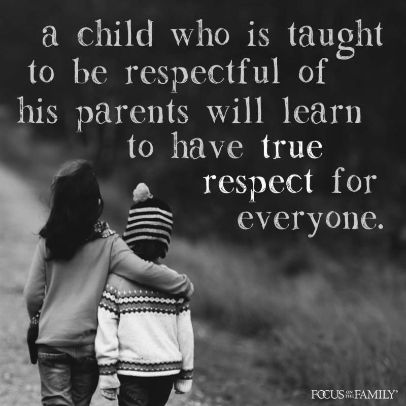 A child who is taught...