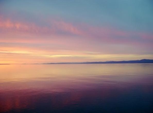 sunset on Qualicum Beach