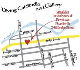 Diving Cat Studio Gallery Location