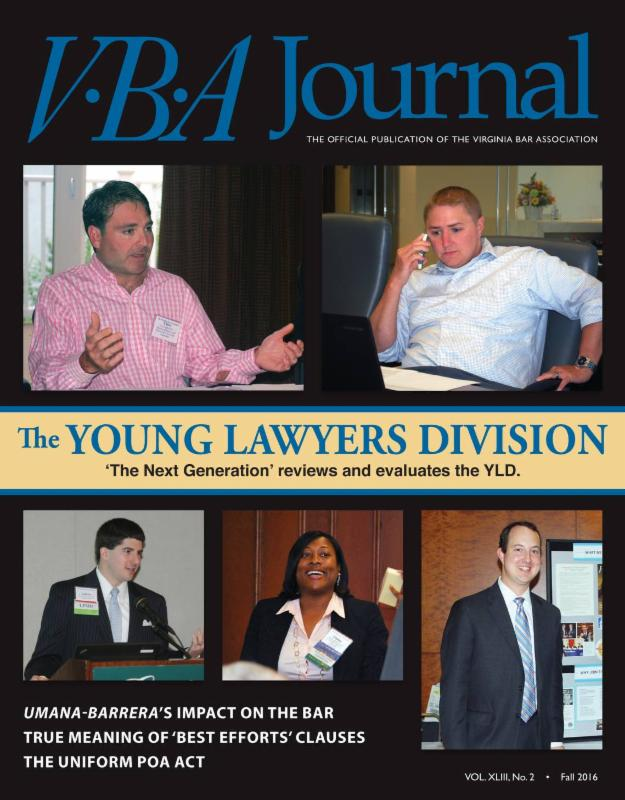 Fall 2016 VBA Journal cover