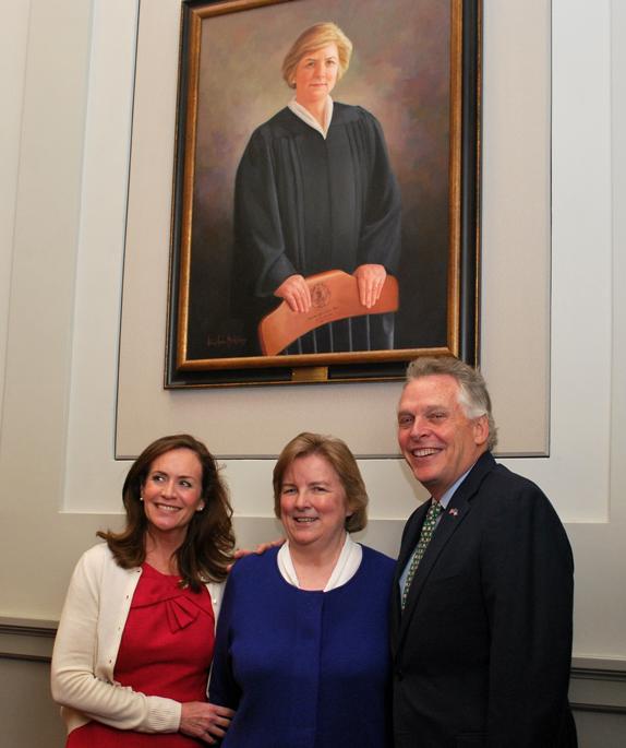 At Roush portrait hanging ceremony