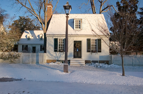 Image of CW home in winter