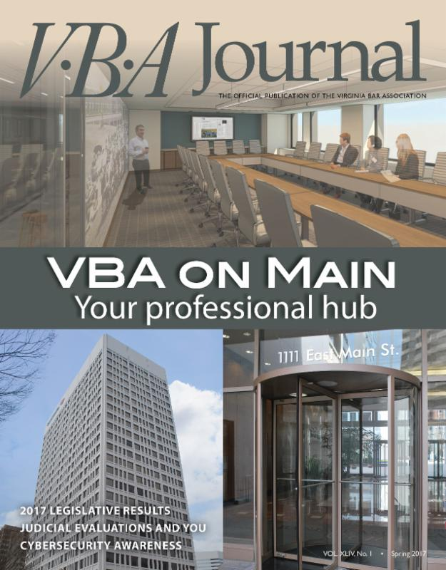 Spring 2017 VBA Journal cover image