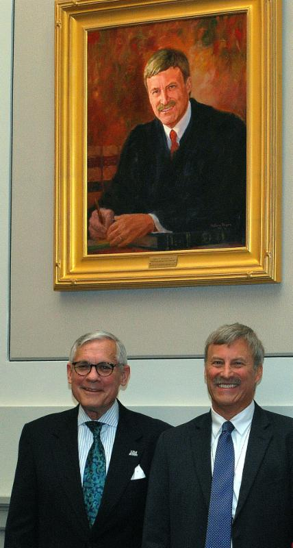 David and Justice Millette at portrait ceremony