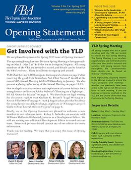 Spring 2017 Opening Statement cover image