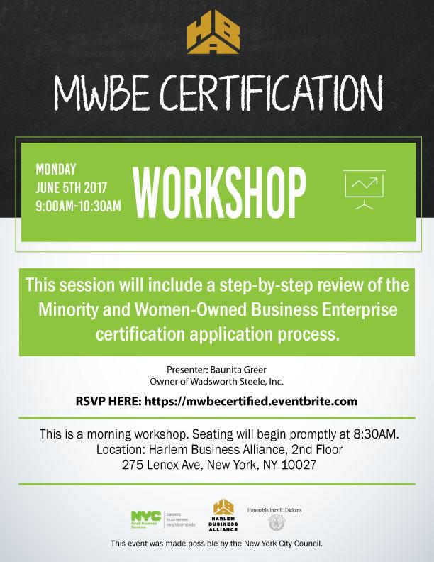 Harlem Business Alliance Presents Mwbe Certification Workshop 6 5