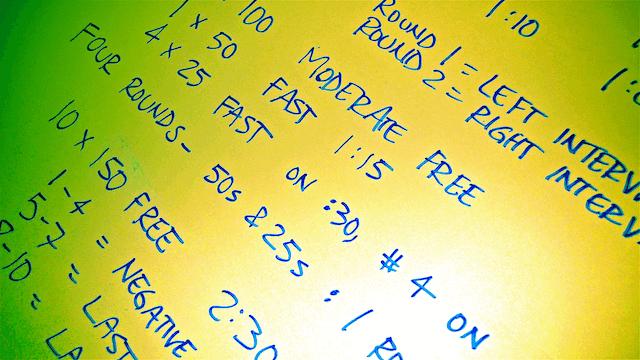 Workout white board