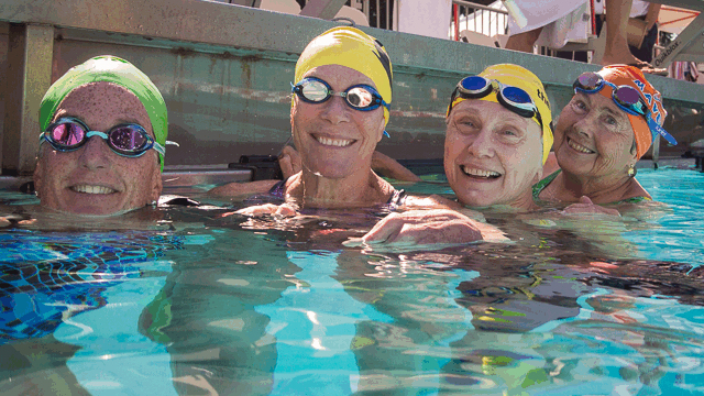 smiling swimmers