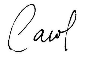 CarolM signature