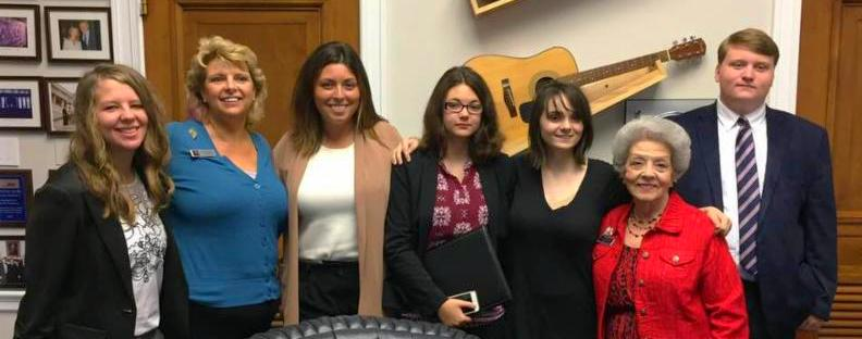 So many of our Eagles were on the Hill representing their states, including some of our  Tennessee Eagles. Pictured above are Student Eagles, Teen Eagle Chair Frances Arthur, and TN EF President, Bobbie Patray after their meeting with Congresswoman Marsha Blackburn's aide.