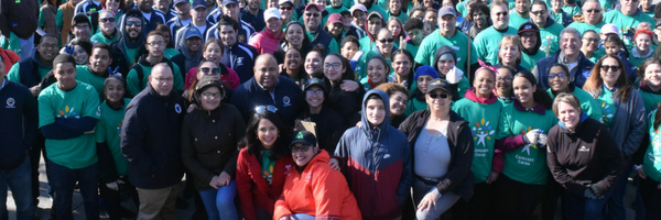 Group photo of volunteers at Earth Day 2018