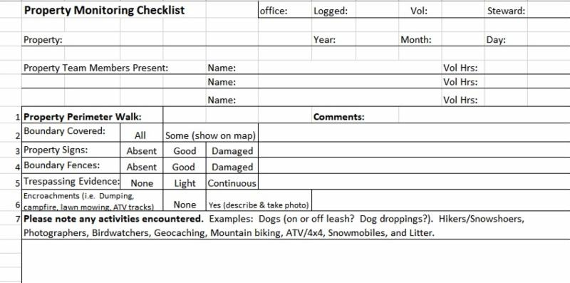 A screenshot of the updated property monitoring form