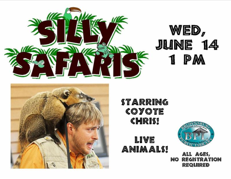silly safaris wednesday june 14 1 pm