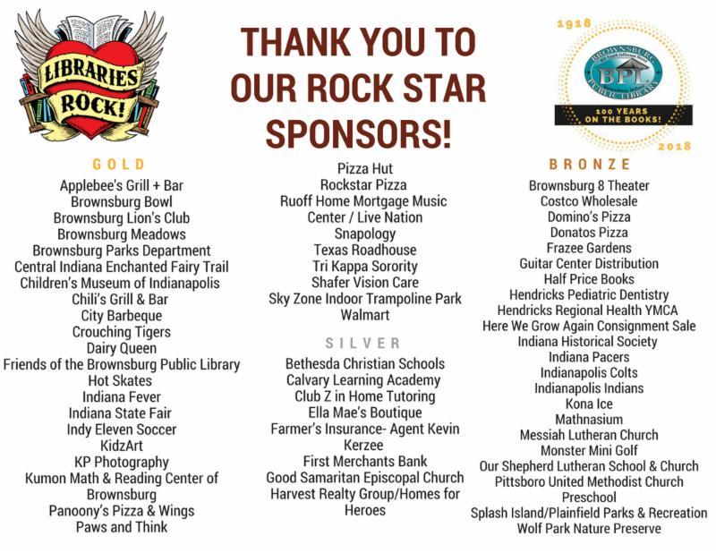 summer reading program sponsors